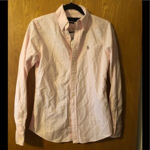 Ralph Lauren custom fit button down LS shirt S